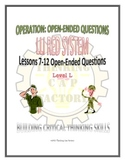 LLI Red System Lessons 7-12 Open Ended Questions