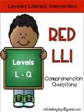 LLI Red System Levels L-Q Comprehension Bundle