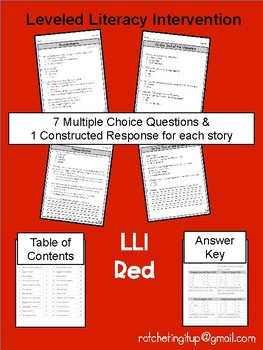 LLI Red System Levels P and Q Comprehension Bundle
