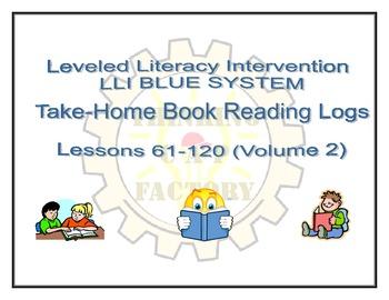 LLI Blue Take Home Reading Logs (Lessons 61-120 Volume 2)