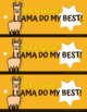Llama Bookmarks - Back to School - Start the New Year on Track