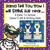 LLama Tell You How I Will Shine This Year: A Back to School Writing & Craft Pack
