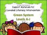 LLI  Leveled Literacy Intervention Green Kit Support Bundle
