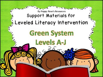 LLI  Leveled Literacy Intervention Green Kit Support Bundle