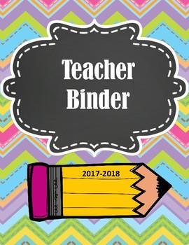 LOADED TEACHER BINDER FOR 2017-2018