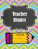 LOADED TEACHER BINDER FOR 2017-2018