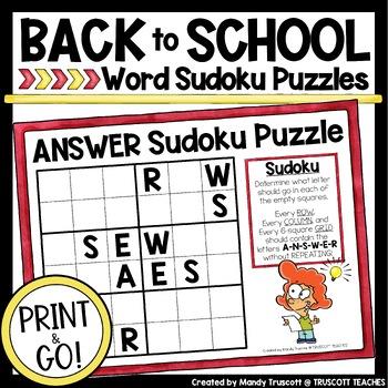 LOCKER Sudoku Word Puzzle