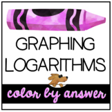 LOGARITHMS and their GRAPHS a color by number activity