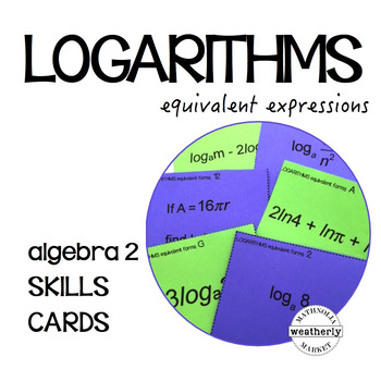 LOGARITHMS - equivalent expressions