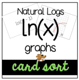 LOGARITHMS ln(x) CARD SORT