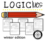 LOGIC PUZZLES for middle and high / 5 more puzzles for WINTER