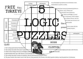 LOGIC puzzles - THANKSGIVING