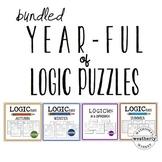 LOGIC puzzles - FOUR SEASONS / YEAR LONG BUNDLE
