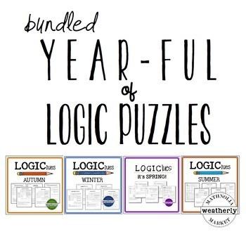 LOGIC puzzles - YEAR LONG BUNDLE