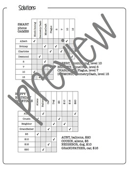 LOGIC PUZZLES for middle and high