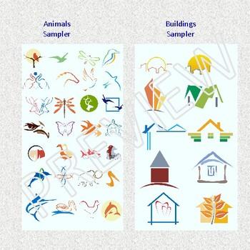 """LOGOMAZE- OVER 400 """"SOFT"""" IMAGES for TPT Sellers / Teachers"""