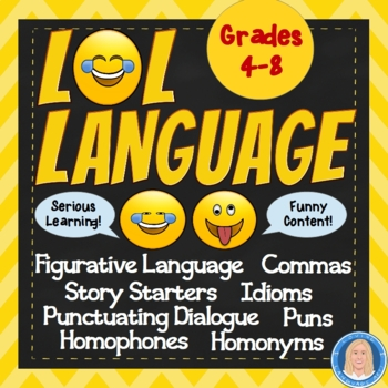 LOL Language Worksheets - Combine serious learning & funny content CCSS aligned