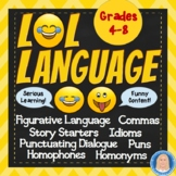 LOL Language Worksheets - Combine serious learning & funny