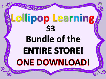 LOLLIPOP LEARNING ENTIRE STORE