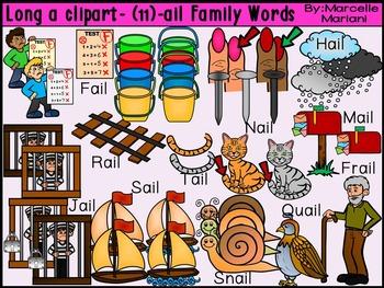 LONG VOWEL A CLIPART (-AIN, -AIL, & -AKE WORDS)