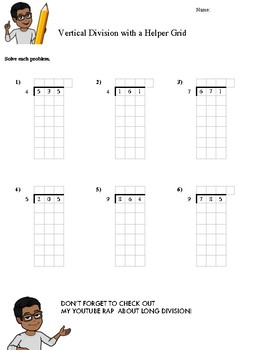 LONG DIVISION + KEY (WITH A HELPER GRID)