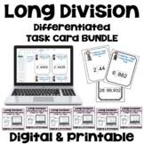 Long Division Task Card BUNDLE (Differentiated)