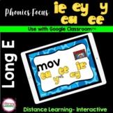 LONG E Vowel Teams - Google Slides™