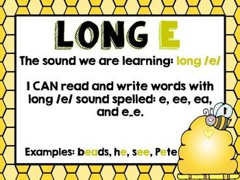 LONG E (ea, e and ee) Cards!