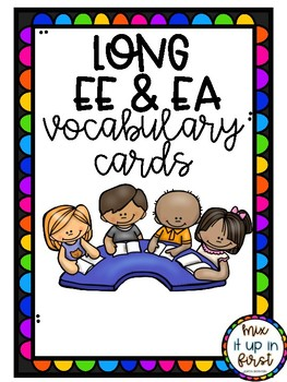LONG EE/EA VOCABULARY CARDS
