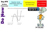 LONG HAUL: Algebra 2 Dividing Polynomials Smartboard #34