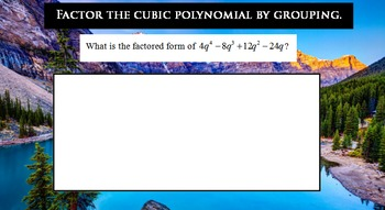 LONG HAUL: Algebra 2 Factoring Quadratics by Grouping Smartboard #29