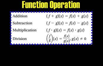LONG HAUL: Algebra 2  Function Operations Smartboard #46