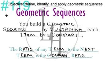 LONG HAUL: Algebra 2 Geometric Sequences Smartboard #53