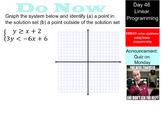 LONG HAUL: Algebra 2 Linear Programming Smartboard #24