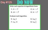 LONG HAUL: Algebra 2 Logarithmic Properties Smartboard #57