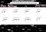 LONG HAUL: Algebra 2 Multiply and Divide Radical Expressio