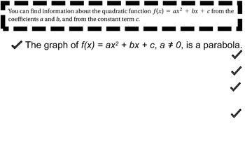 LONG HAUL: Algebra 2 Quadratic Smartboard #26