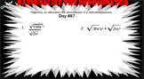 LONG HAUL: Algebra 2 Rationalize the Denominator Smartboard #39