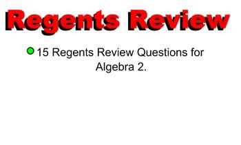 LONG HAUL: Algebra 2 Regents Questions Smartboard