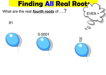 LONG HAUL: Algebra 2 Roots and Radical Expressions Smartboard #36