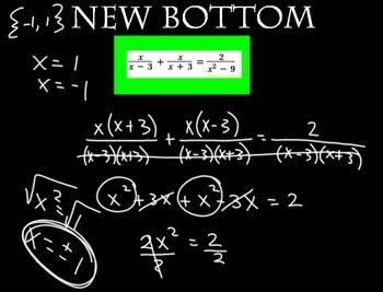 LONG HAUL: Algebra 2 Solving Rational Equations Smartboard #49