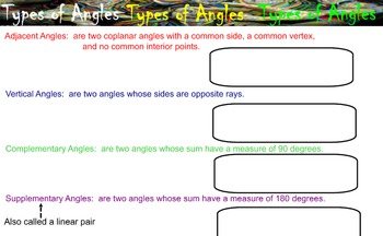 LONG HAUL: Geometry Exploring Angles Smartboard