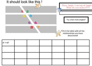 LONG HAUL: Geometry Parallel lines cut by transversal Smartboard