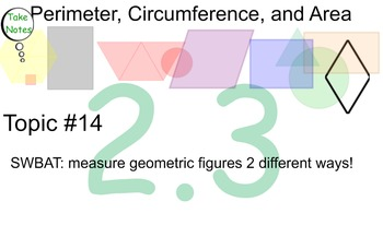 LONG HAUL: Geometry Perimeter & Area Smartboard