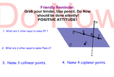 LONG HAUL: Geometry Points Lines and Planes continued Smartboard