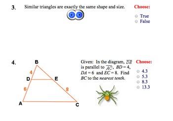 LONG HAUL: Geometry Similiar Triangles Smartboard