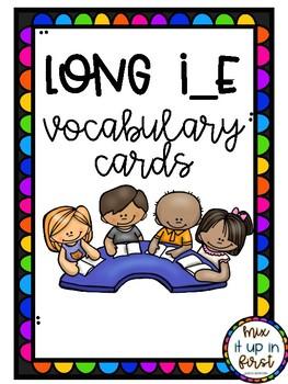 LONG I VOCABULARY CARDS