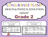 EDITABLE LONG RANGE PLANS – Health and Physical Education – Grade 2