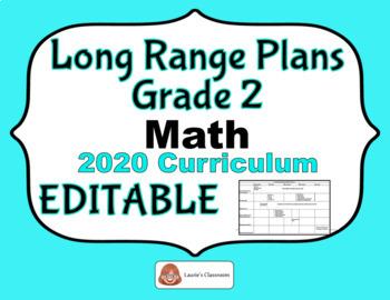 LONG RANGE PLANS – Math – Grade 2