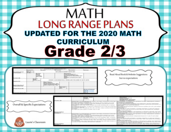LONG RANGE PLANS – Math – Grade 2/3